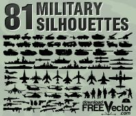 Military clip art for Photoshop, free for even commercial use