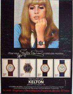 Sylvie Vartan for Kelton watches 1969
