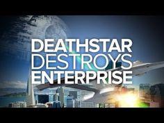 Death Star Destroys Enterprise, A Battle Between 'Star Wars' & 'Star Trek' Spacecraft in San Francisco