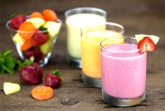 "<p>These No-Protein-Powder Protein Smoothies are totally plant-based. The raw vegan recipes are easy to make and taste great, even though they all contain a vegetable. You won't even taste the ""green""…promise!</p>"