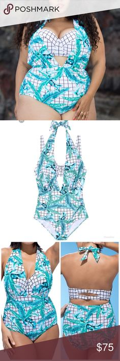 75c3a90c2a Swimsuits for All - Athena Beautiful one piece halter with under bra. Suit  can be
