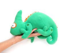 Plüschtier Muster Chameleon Soft Toy Pattern-PDF INSTANT DOWNLOAD, $6.00