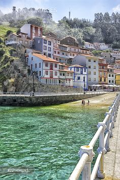 Spain, Asturias, Cudillero Spain, Image, Landscapes, Beautiful Places, Nice Asses