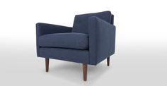 Noah Fog Blue Armchair - Lounge Chairs - Bryght | Modern, Mid-Century and Scandinavian Furniture
