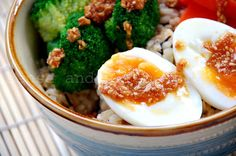 Sense & Serendipity: Meatless Day Challenge: Savory Breakfast Brown Rice Bowl