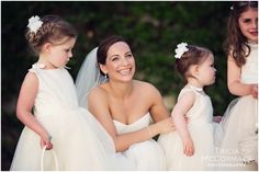 Bride and Flower Girls- Berkshire Wedding at the Mount, Lenox MA - Tricia McCormack Photography