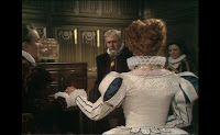 Costume Captures: Elizabeth's White & Blue Gown
