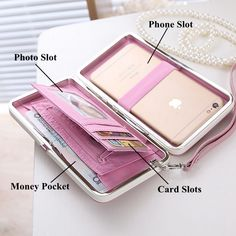 Women Universal 5.5 Inch Phone Bag Wallet PU Phone Case For Iphone,Xiaomi,Samsung,Sony,Huawei On Sale - NewChic Mobile