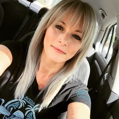 So ready for fashion show hair and makeup!! #silverhair #carselfie #aveda #keyshairsalon #keyshairstylist #keylargomakeupartist #glamsquad #greenhousehair #myteamrules #wegotthis
