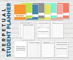 Create your own planner for each of your kids!   Printable Student Planner - No Dates - 8.5 x 11 - Instant Download