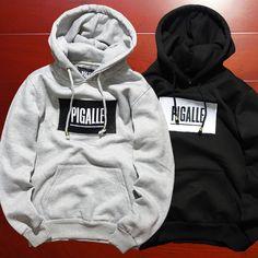 hip hop streetwear brand name mens clothing korean couple kpop clothes S-2XL fleece black hoodie asap rocky box logo pigalle Honeymoonhunter.com #honeymoon #honeymoonlingerie #honeymoonhunter #selfie #selfiestick