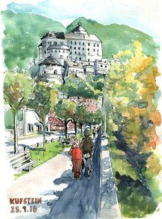 Was für ein wunderschöner Herbsttag. Die Menschen zog es raus an die Sonne. Ich schnappte mit mein Rad und fuhr nach Kufstein um die Festung...