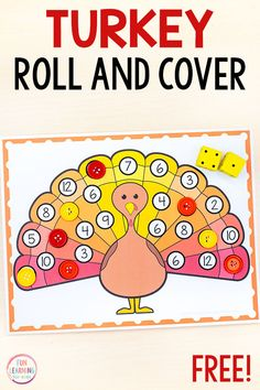 Turkey Roll and Cover Math Game