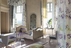 chambre violette et verte