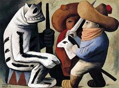 Carnaval en Huejotzingo, Josè Chàvez Morado (1939) Se logran distingir figuras y formas, sin embargo la realidad está lejana. Disney Characters, Fictional Characters, Painting, Collection, Art, Carnival, Shapes, Art Background, Painting Art