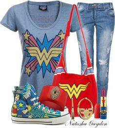Compare 49093 wonder woman t shirt products at SHOP.COM, including Toddler Girls' DC Comics Wonder Woman T-Shirt Dresses - Pink/Gray Multicolored, Sporty Wonder Woman T-Shirt, Wonder Woman Womens Wonder Woman Logo T-Shirt, Red - Large Disfraz Wonder Woman, Looks Style, Style Me, Moda Geek, Geeks, Geek Mode, Geek Chic, Cosplay, My Girl