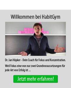 Erfolg durch Fokus und Konzentration - Dr. Jan Höpker, Dein Coach für mehr Fokus und Konzentration