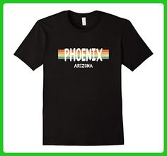 Mens Phoenix Arizona T-Shirt Vintage Retro 1980s Style Small Black - Retro shirts (*Amazon Partner-Link)