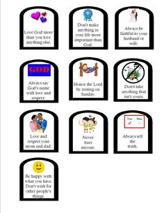 10 commandments printable for kids ccd pinterest 10