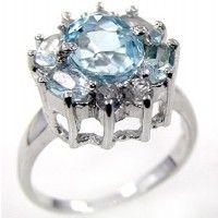 4.65ctw Genuine Blue Topaz & Solid .925 Sterling Silver Gemstone Ring (SJR10131BT). Buy Now: http://www.sterlingsilverjewelry.tv/genuine-blue-topaz-925-sterling-silver-gemstone-ring-sjr10131bt.html #SterlingSilverJewelry #silverrings #sterlingsilverrings #ringsilver #silverringdesigns #handmaderings #silverringssterling #Rings #RingsJewelry