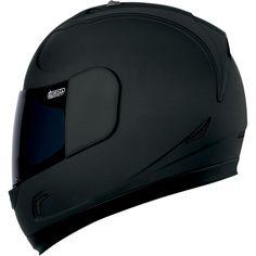 Icon Alliance Dark Helmet - Motorcycle Superstore