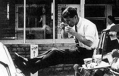 Bobby Kennedy snacking.