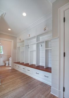 large empty mud room