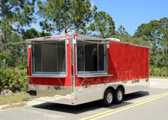 Red Mobile Diner Grill Concession Trailer