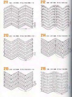 Узоры крючком зиг-заг