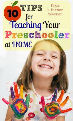 From a former Preschool Teacher of  9 years. Great, wonderful Tips!