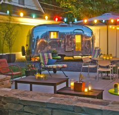 party patio.  and yes, this is our backyard!