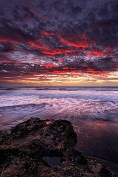 Explosions in the sky by James Walton via 500px. Kariotahi beach, New Zealand