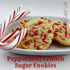 My Mom Made That: Peppermint Crunch Sugar Cookies with Andes Peppermint Crunch bits