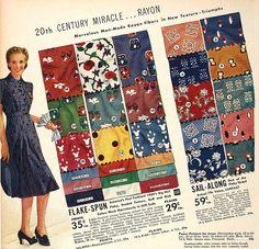 Rayon fabrics in the Sears catalogue, 1939 | Flickr - Photo Sharing!