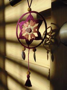 Lapač snů - růženín I Dream Catcher, Crochet Earrings, Jewelry, Decor, Dreamcatchers, Jewlery, Decoration, Jewerly, Schmuck