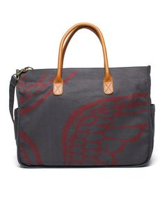 WANT Take a look at this Charcoal Safari Wing Tote by Make Love Not Trash on #zulily today!