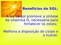 benefícios do sol - Pesquisa Google