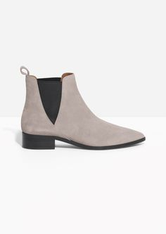 & Other Stories image 1 of Suede Chelsea Boots in Sand