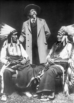 Red Cloud, William Cody, and American Horse by David Frances Barry