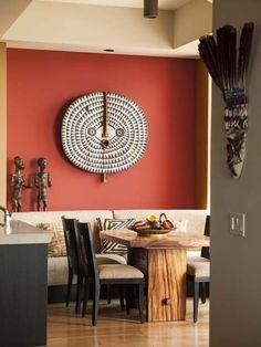 ethnic home decor 40 Amazing Ethnic Wall Living Room Decoration Ideas African Interior Design, Home Interior Design, Interior Styling, African Design, African Style, Deco Ethnic Chic, Ethnic Decor, Tribal Home Decor, African Living Rooms