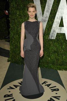 Mia Wasikowska in Antonio Berardi at the 2012 Vanity Fair Oscar Party