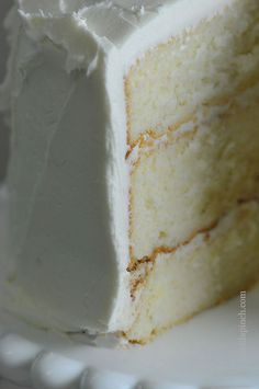 The Best White Cake Recipe {Ever} This White Cake Recipe will quickly become your favorite. A moist, tender white cake you'll love. The Best White Cake Recipe Ever, Easy White Cake Recipe, Bakery White Cake Recipe, Moist White Cake, White Cake Recipe Cake Flour, Best White Birthday Cake Recipe, Classic White Wedding Cake Recipe, High Altitude White Cake Recipe, Cake Recipes