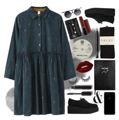 """""""Never cared for what they do, never cared for what they know"""" by spiritofjuly ❤ liked on Polyvore featuring Karl Lagerfeld, Sloane Stationery, Floyd, Falke, Lime Crime, NARS Cosmetics and Chanel"""