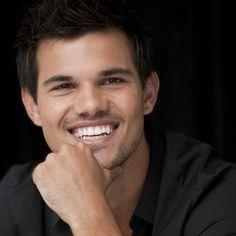 Taylor Lautner <3 loving the little bit of facial hair :)
