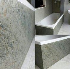 Lite Stone 'Mare' slate tiles clad a bathtub