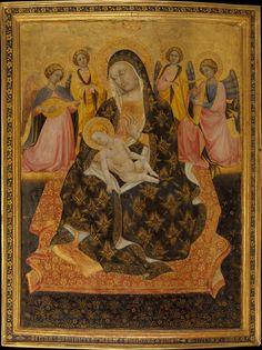 Pietro di Domenico da Montepulciano (f.l1418-1422) — Madonna and Child with Angels, 1420 : Metropolitan Museum of Art, New York City, NY. USA (1024×1369)