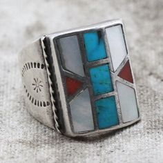 Our sterling silver jewelry is hand selected from around the world. Each piece comes with it's own unique untold story. Metal: Sterling Silver Stones: mother of pearl, coral, turquoise Ring Size: 12 T Coral Turquoise, Lord Of The Rings, Sterling Silver Jewelry, Size 12, Stones, Pearls, Metal, Unique, Products