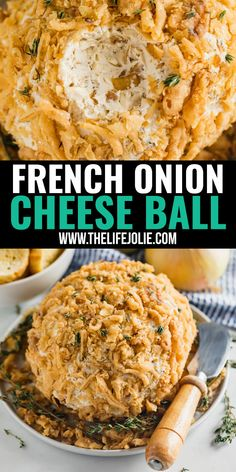 This French Onion Cheese Ball is a delicious savory appetizer that is sure to impress all your friends. It's also super easy to whip up! Food Recipes For Dinner, Food Recipes Keto Cheese Appetizers, Great Appetizers, Appetizer Recipes, Wedding Appetizers, Christmas Appetizers, French Fried Onions, French Onion, Ceviche, Sauces