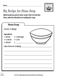 Stone Soup and the following activities are a wonderful way to start a discussion about sharing. (And with this cold weather, who wouldn't want a warm, yummy cup of soup!)