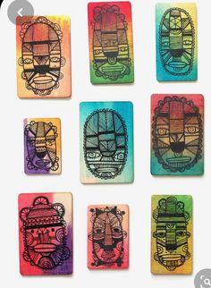 brite zamorano: making masks with marcos.shine brite zamorano: making masks with marcos. African Art Projects, Art Du Monde, Afrique Art, 6th Grade Art, Ecole Art, Art Africain, Art Lessons Elementary, Art Lesson Plans, Art Classroom